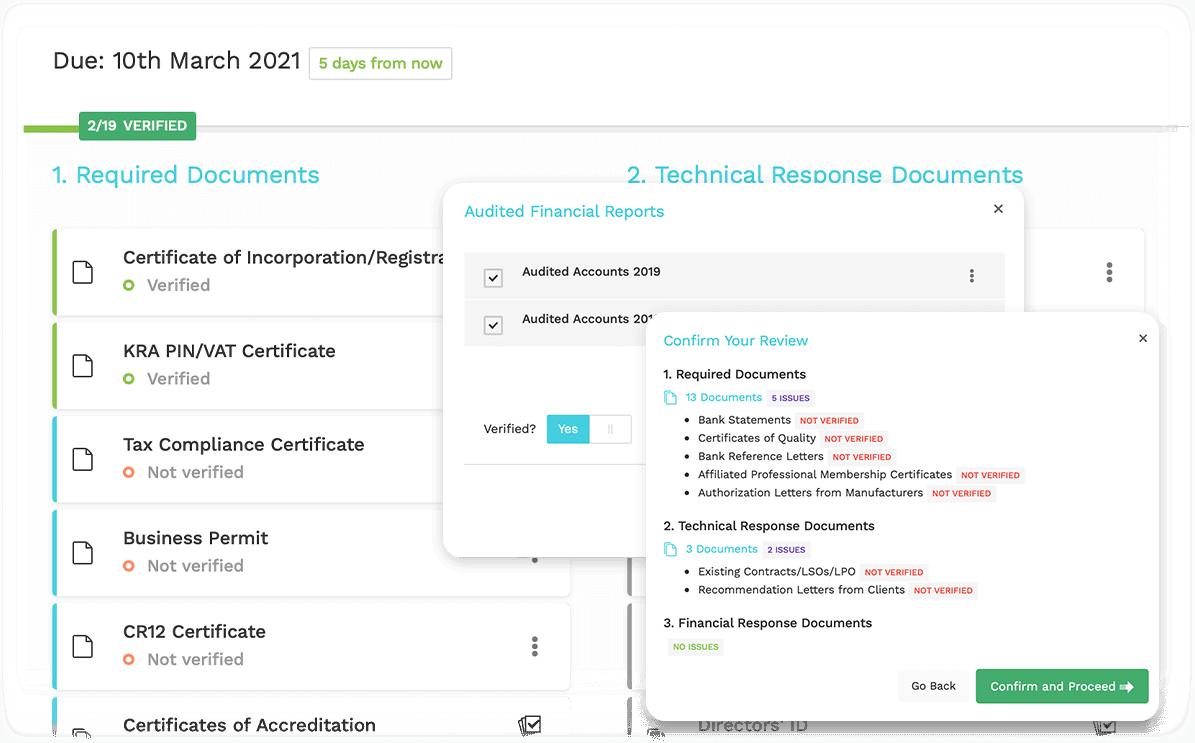 Review & Verify Application