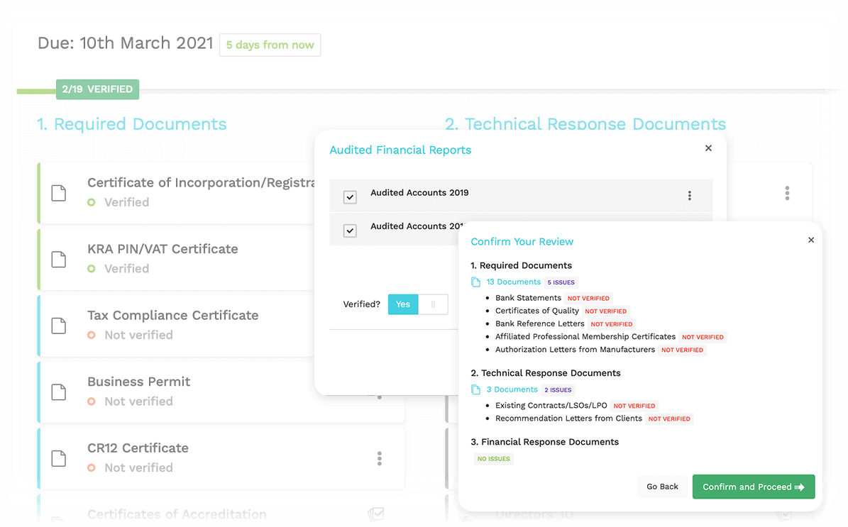 Review and Verify Documents